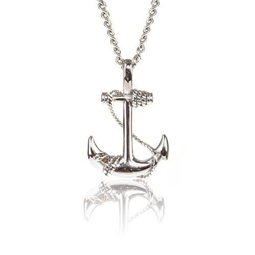 - GL Creations Stingray Men's Stainless Steel Anchor Pendant on 20