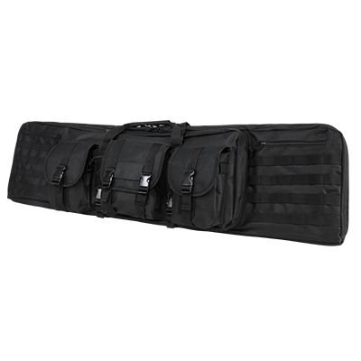 "NcSTAR VISM Deluxe Double Rifle Case, Black, 46"" x 13"""