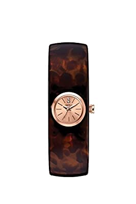 Caravelle New York Women's 44L139XG Swarovski Crystals Tortoise Shell 17mm Watch (Certified Refurbished) from Caravelle New York