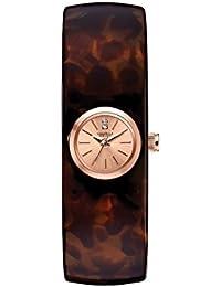 Women's 44L139XG Swarovski Crystals Tortoise Shell 17mm Watch (Certified Refurbished)