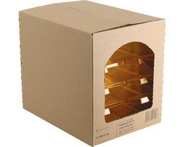 5 x Helit Briefablage A4 Polystyrol glasklar
