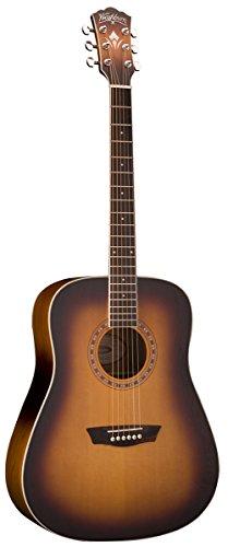 (Washburn WD7S Harvest Series Grand Auditorium Acoustic Guitar - Tobacco Sunburst.)