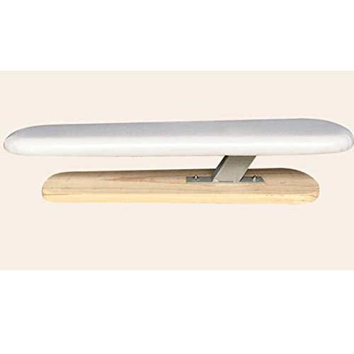 Fun life Wooden sleeve ironing board, Extra stable legs small ironing board with ironing board cover and pad-A by Fun life