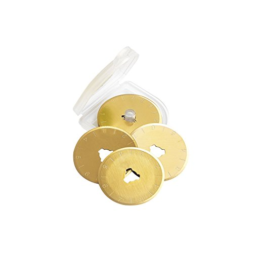100pcs Gold Titanium 28mm Rotary Cutter Refill Blade Sewing Quilting Photos Fits Olfa Fiskars Cutters,pack of 10 by LIYUAN TOOL