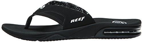 Reef Fanning black Noir Sandales Femme wpq1waxfv