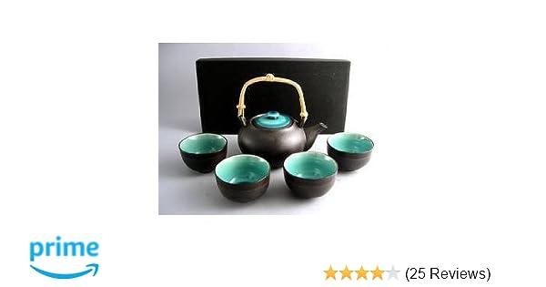Amazoncom Japanese Ocean Blue Five Piece Teaset Tea Services