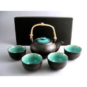 Japanese-Ocean-Blue-Five-Piece-Teaset
