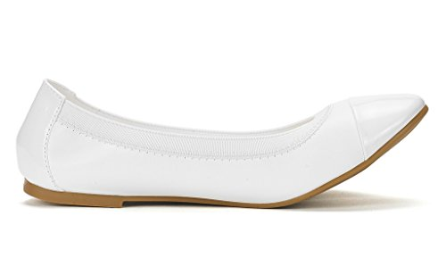 Shoes DREAM Sole Walking White Flats Flex Women's PAIRS Ballerina x0qwgF01