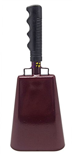 Maroon Bells (11.2 inch Maroon Bell Black Handle Cowbell with Stick Grip Handle Used for Cheering at Sporting Events - Cow Bell by Stewart Trading™)