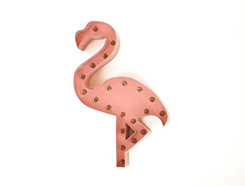 Iconics Indoor & Outdoor Pink Flamingo Icon Marquee Light Sign by Iconics