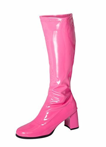 Hot Pink Knee High Go-Go Boots for Ladies. Many other colours - Sizes 3 to 11.