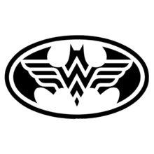 Wonder Woman Batman Vinyl Decal Sticker | Cars Trucks Vans W