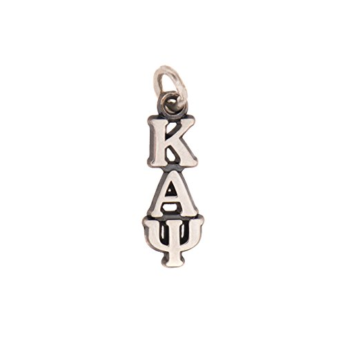 Kappa Alpha Psi Sorority Letter Sterling Silver or 14k Gold Lavalier Necklace with Chain (Silver)