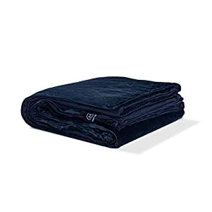 Gut Health Shop 310vtUJKQwL._SS300_ Gravity Z Weighted Blanket with Dual-Sided Temperature Controlling Removable Cover - Navy 25lbs/Queen 90'' x 90''