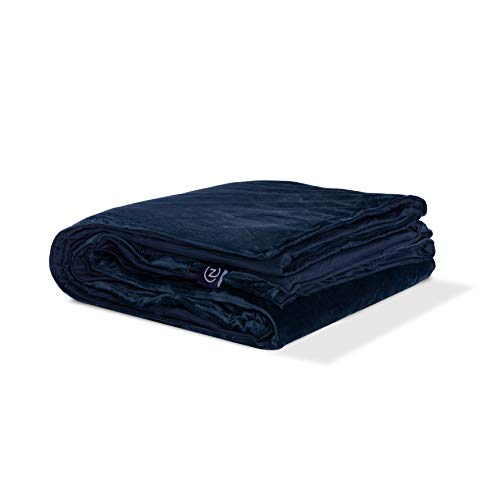 Gravity-Z-Weighted-Blanket-with-Dual-Sided-Temperature-Controlling-Removable-Cover-Navy-25lbsQueen-90-x-90