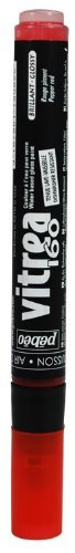 Pebeo Vitrea 160-Glass Paint Glossy Marker, Pepper Red by ()