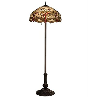 63 Inch H Tiffany Scarlet Dragonfly Floor Lamp Floor Lamps