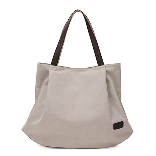 Canvas Shoulder Bag Ladies Tote Large Capacity Simple Casual Shopping Bag