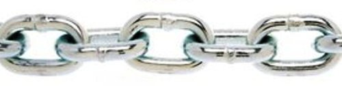 ASC MC168503025 Low Carbon Steel Case Hardened Proof Coil Chain, Zinc Plated, 5/16'' Trade, 5/16'' Diameter x 25' Length