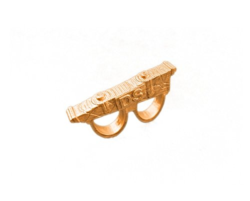 Doctor Strange Sling Ring - Made in USA - Antique gold/bronze hard synthetic polymer - No Metals - It's very lightweight & comfortable - Finger slots are 23 mm in Diameter