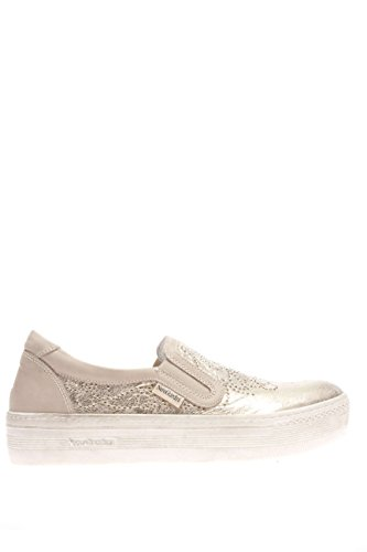 Negro Giardini–Zapatos Mujer Sneaker p615260d-415Sneaker slip on piel Beige