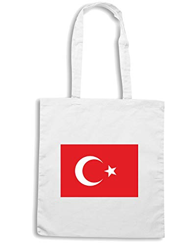Borsa Bianca FLAG TURKEY Speed TM0255 Shirt Shopper q5WvtS