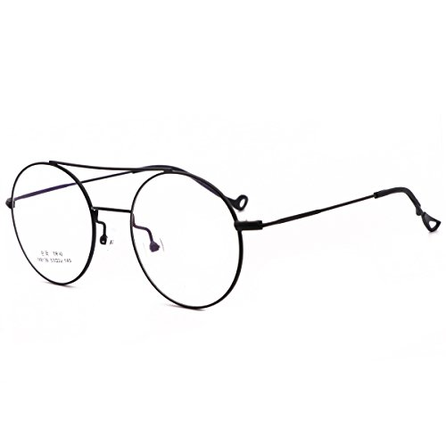 Amazon.com  VINN Eyeglasses Retro Round Oversize 80 s Vintage Glasses  (Black)  Clothing def7924fc61ab
