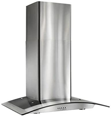 Broan Arched Glass Chimney Hood