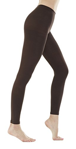 Women's 150 Denier Thick Footless Tights Pantyhose (Brown - 2Pair, S/M) ()