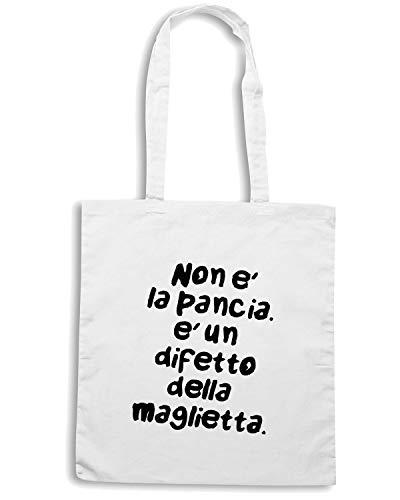 Speed Shirt Borsa Shopper Bianca TDM00193 NON E PANCIA E UN DIFETTO DELLA