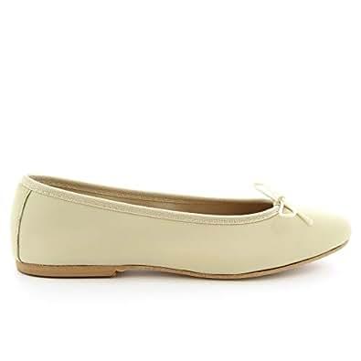 LEONARDO SHOES Luxury Fashion Womens 6087WHITE White Flats | Season Permanent