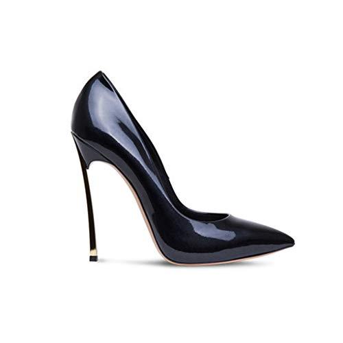Pointu Talon En Aiguilles Pompes Talons Haut Banquet Soirée Femmes Coussin De De Chaussures Bout 12Cm Black Hauteur Métal De Forme De De HnEqXw5