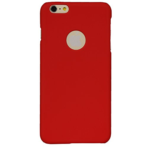 iAccy iPhone 6S Plus / 6 Plus Logo Cut out Hard Rubber case case – Red