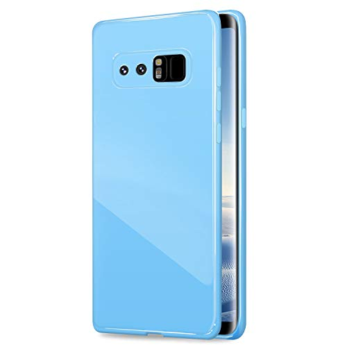 Galaxy Note8 Case, ANLEY Candy Fusion Series - [Shock Absorption] Classic Jelly Silicone Case Soft Cover for Samsung Galaxy Note 8 (Sky Blue) + Free Ultra Clear Screen Protector