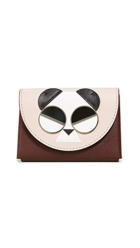 Kate Spade New York Women's Gentle Panda Card Case, Roasted Fig, Brown, Graphic, One Size