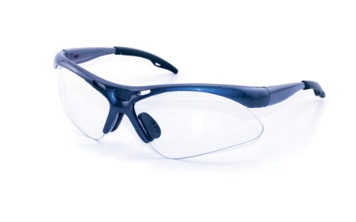 SAS Safety 540-0300 Diamondback Eyewear with Polybag, Clear Lens/Blue - 1 Ansi Z87 2015
