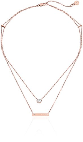 Michael Kors Rose Gold Modern Brilliance Lobster Clasp Pendant Necklace