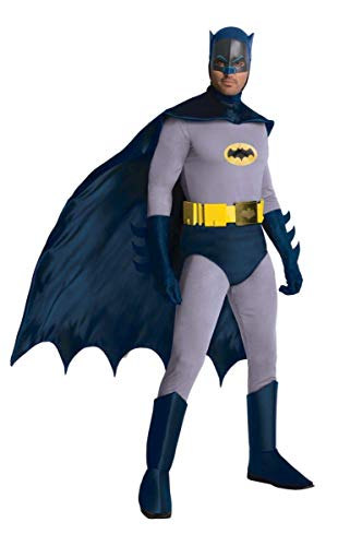 Retro Batman And Robin Costumes (Rubie's Grand Heritage Classic TV Batman Circa 1966, Blue/Gray, Standard)