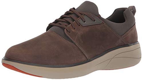 Clarks Men's Un Rise Lo Sneaker, Taupe Leather, 11 W US