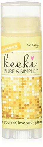 - Keeki Pure & Simple Lip Shimmer Stick, Sassy.15 Fluid Ounce