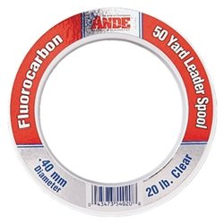 Ande FPW-50-50 Fluorocarbon Leader Material, 50-Yard Spool, 50-Pound Test, Pink Finish