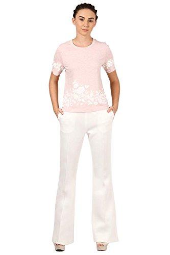 Pankaj and Nidhi Women's Plain Regular Fit T-Shirt