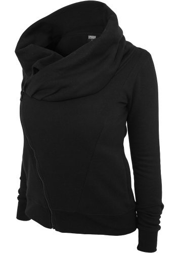Urban Classics TB747 Ladies Asymetric Zip Jacket Regular Fit Woman S Black Nero