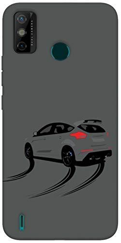 SharpEseller Drift Car Pattern Printed Soft Designer Mobile Back Cover for Tecno Spark Go 2020