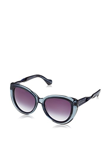 Balenciaga BA26 BA/26 92W Transparent Gray Horn Fashion Cat Eye Sunglasses 54mm