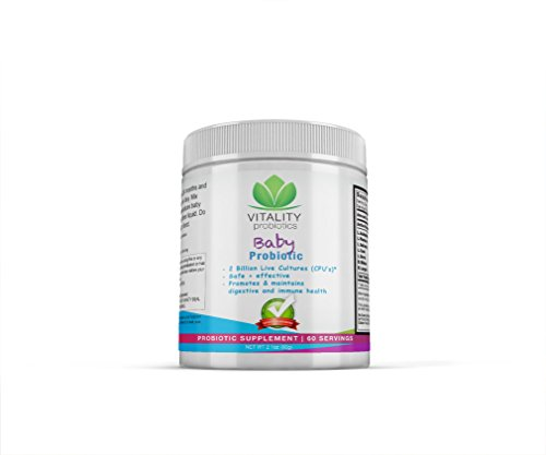 Baby Probiotic- 2 billion Live Cultures per Serving (Lactobacillus & Bifidum bugs). Safe+Effective and Promotes & maintains digestive and immune health. Flavorless