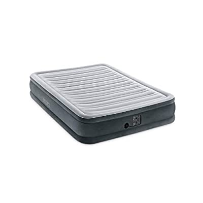 Intex Comfort Plush Mid Rise Dura-Beam Airbed with Internal Electric Pump, Bed Height 13""