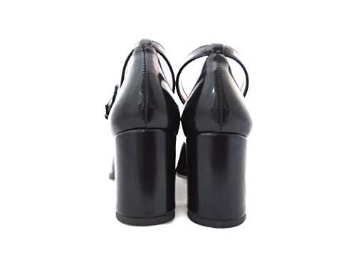Tacco Nero Fiori Di Mercante Abrasivato Donna Con Bebè 6830 Scarpe In O4x1q