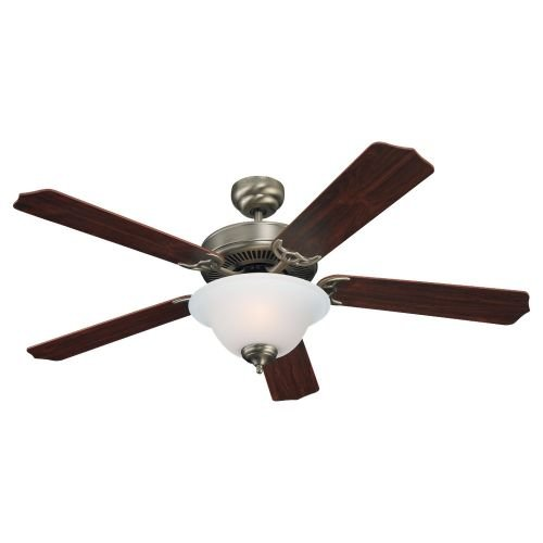 Sea Gull Lighting 15030BLE-965 Ceiling Fan with Frosted Glass Shades, Antique Brushed Nickel Finish