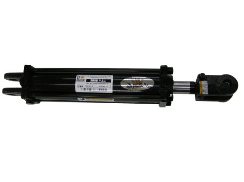 Prince A250080ABAAA07B Double-Acting Tie-Rod Hydraulic Cylinder, Clevis Mounting, Painted, 2-1/2